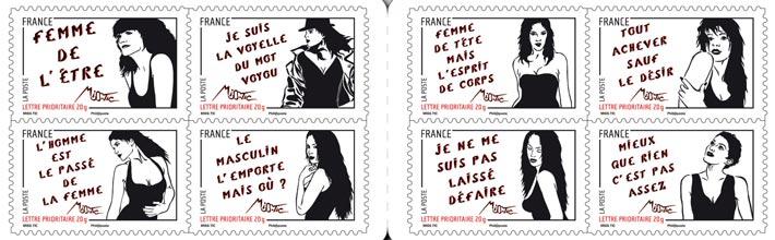 Journée internationale du droit des femmes, Timbres de Miss.Tic