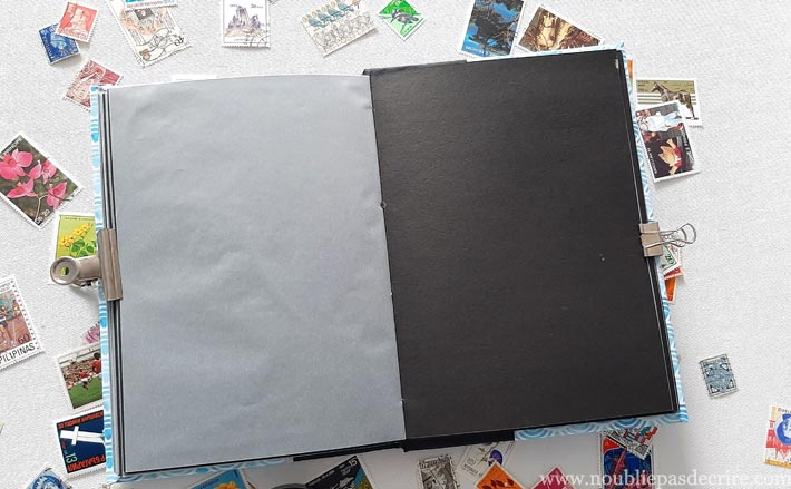 Fabriquer soi-même un album pour timbre avec du papier et du calque