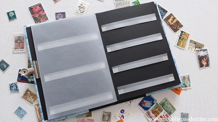 Tuto scrapbooking album de timbres