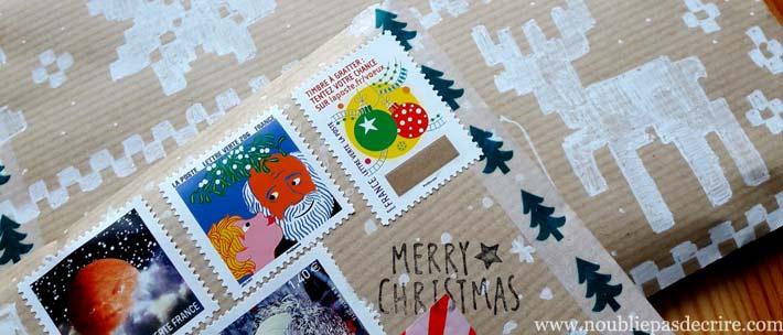 noubliepasdecrire.com le mini swap de courrier de Noël 2017