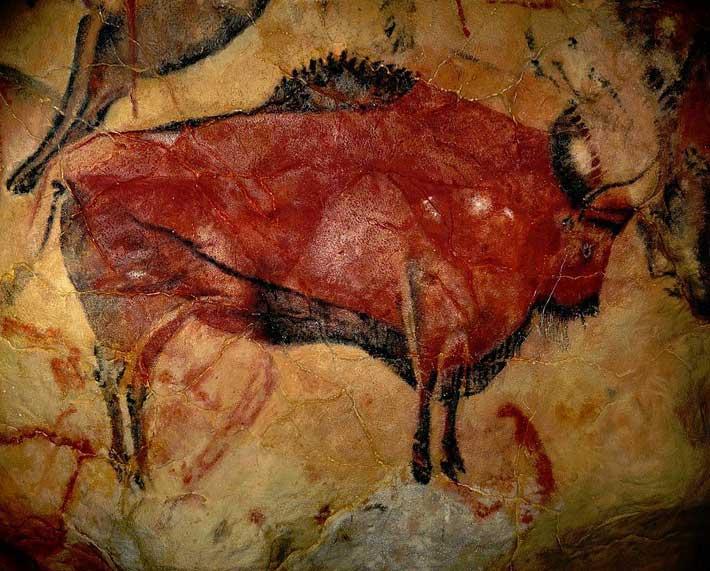 Bison grotte Altamira Espagne