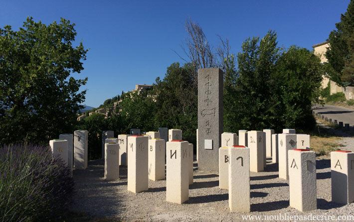 Le Chemin des écritures de Lurs en Provence