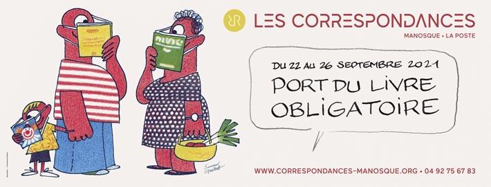 Le programme du festival littéraire Les correspondances de Manosque 2021