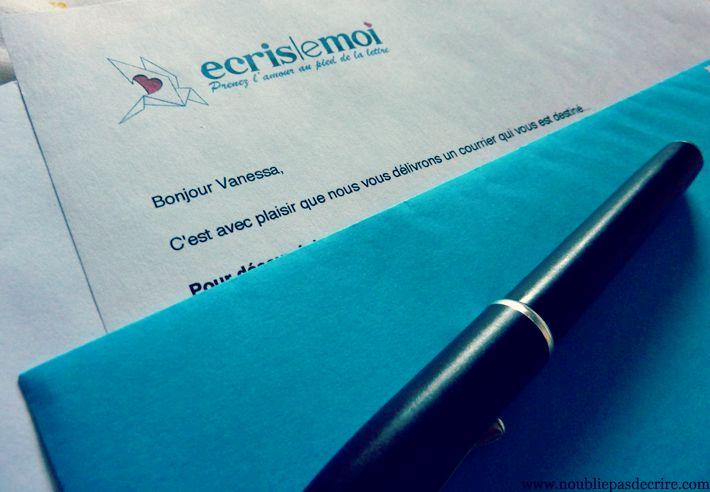 Une lettre de Écris le Moi