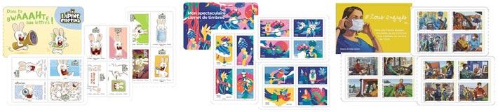 Les beaux carnets de timbre Poste de 2020
