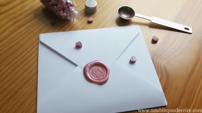 Cire à cacheter lettre d'amour