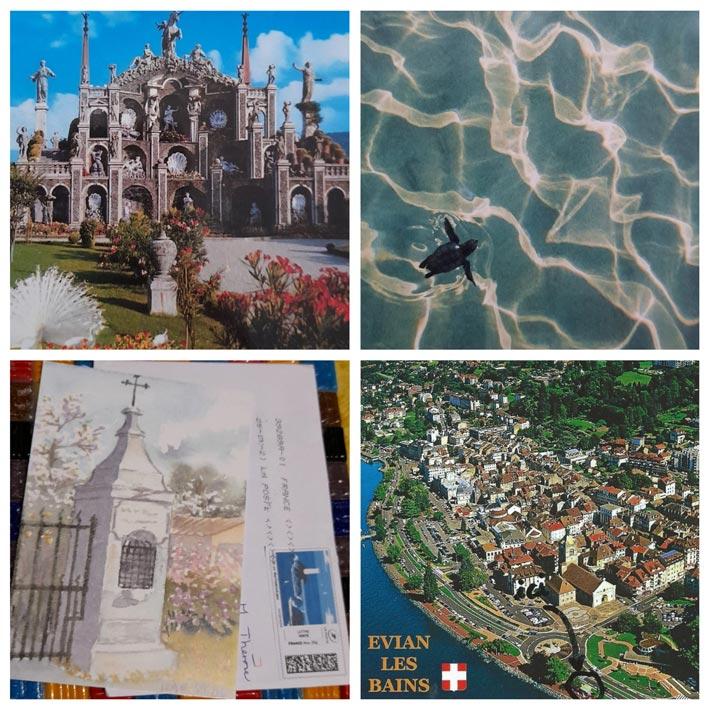 Cartes Postales de vacances 2021Evian les bains