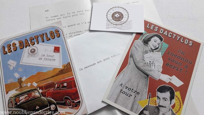 La compagnie oxymore distribue des lettres à Manosque