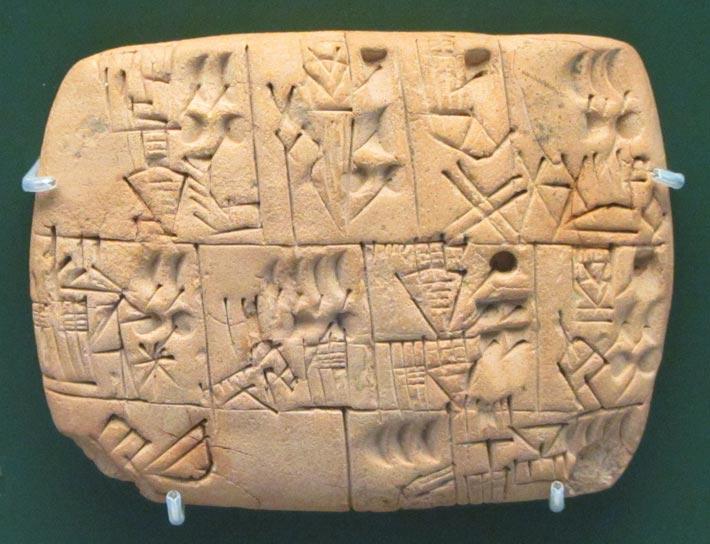 Tablette mésopotamienne cunéiforme, bière contre travail