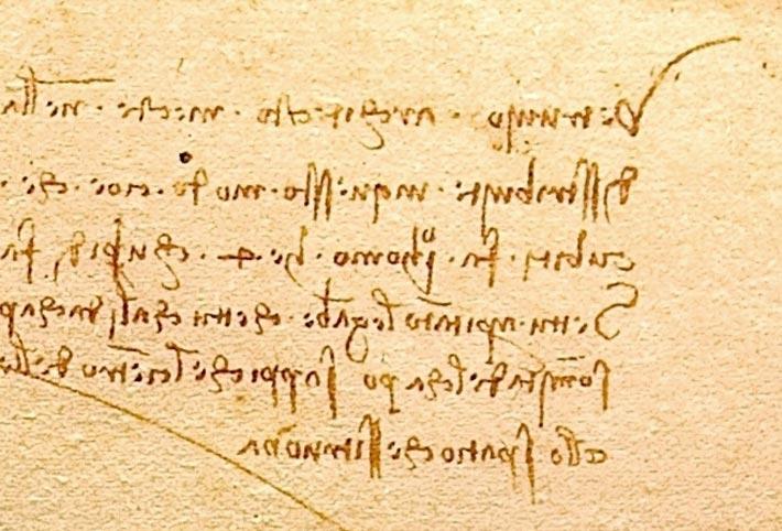 L'écriture en miroir de Léonard de Vinci