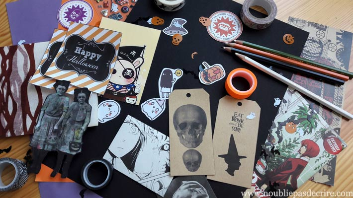 Happy Mail pour Halloween: le matos