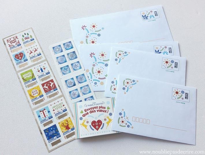 Tentez de remporter ce lot de timbres et enveloppes sur noubliepasdecrire.com