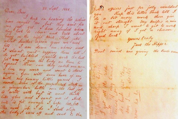 La lettre de Jack l'éventreur