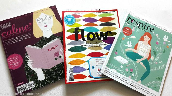 3 magazines life style, slow living qui nous invitent à prendre la plume