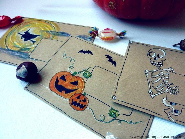 Mail Art pour Halloween 2015 sur le site