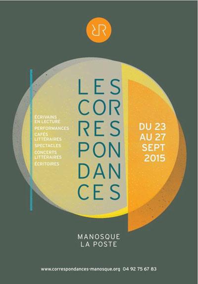 Affiche du Festival Les Correspondances de Manosque 2015