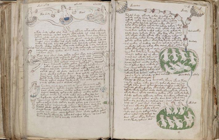 Le manuscrit de Voynich, écriture codée