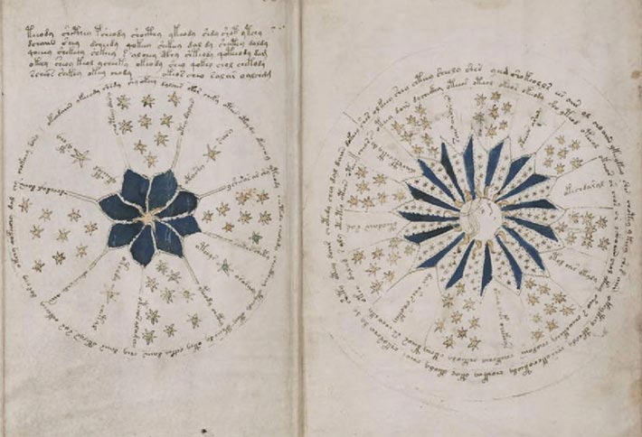 Le manuscrit de Voynich, constellation