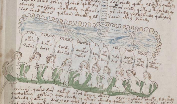 Le manuscrit de Voynich, bain public mode d'emploi