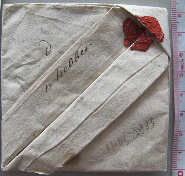Lettre pliée 18eme siècle Musée de la communication de l'Haye