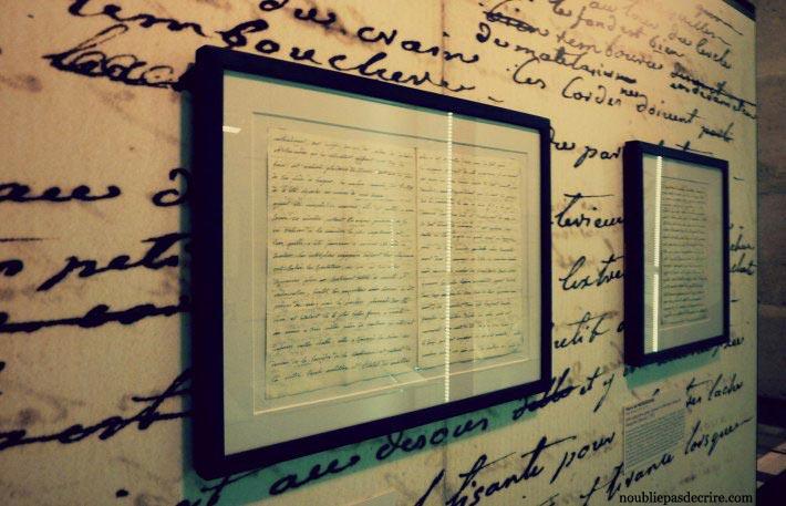 cadre au musée des lettres