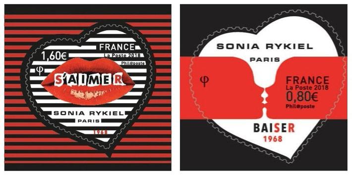 Saint Valentin timbres 2018 Sonia Rykiel