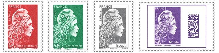 Tarifs et utilisation des différentes couleurs de timbres