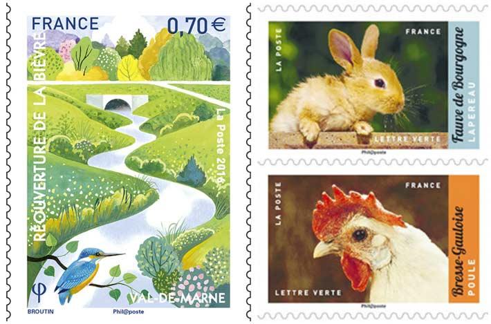 Des timbres pour le printemps 2017