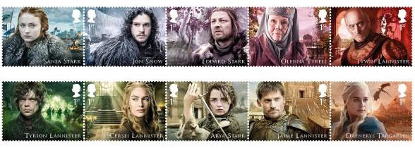 Des timbres Game of Thrones