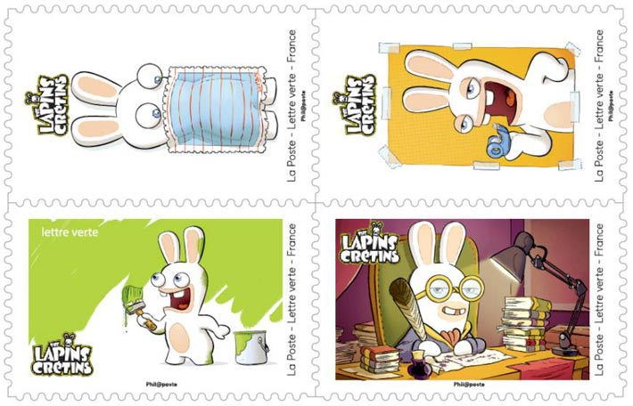 Carnet de timbres Lapins Crétins 2020