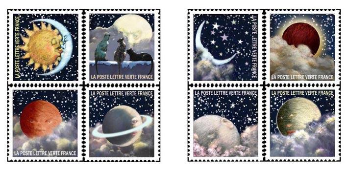 Serie timbres Correspondance Planétaire 2016 La Poste