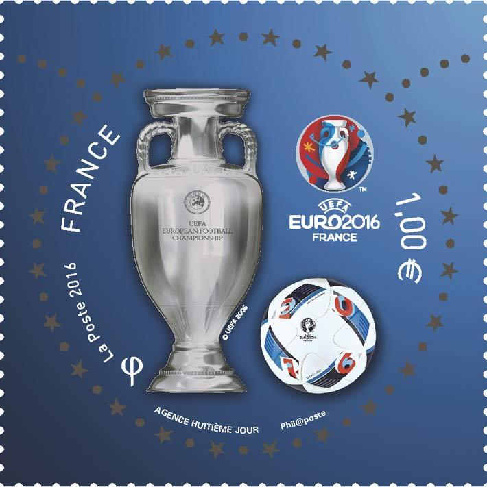 Timbre officiel de l'UEFA EURO 2016