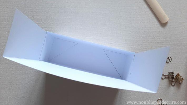 Scrapbooking, la base de la boite de rangement