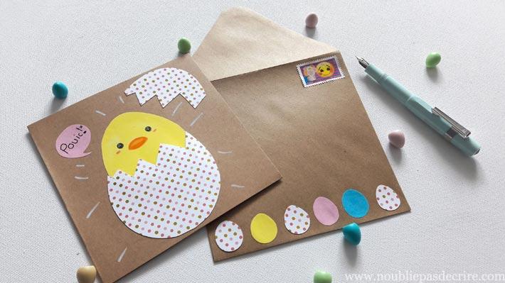 Tuto pour une carte ultra facile pour Pâques