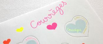 Des timbres pour la St Valentin