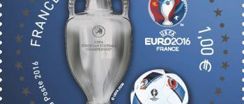 Timbre officiel de l'UEFA EURO 2016, un timbre qui sent bon le foot!