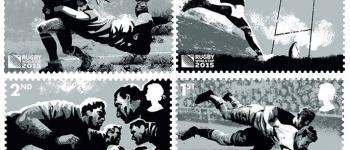 Les timbres de la Royal Mail pour la Coupe du Monde de Rugby 2015