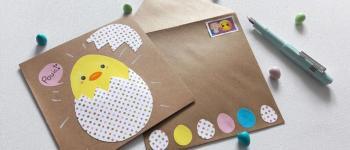 Tuto, une carte ultra facile à faire pour Pâques